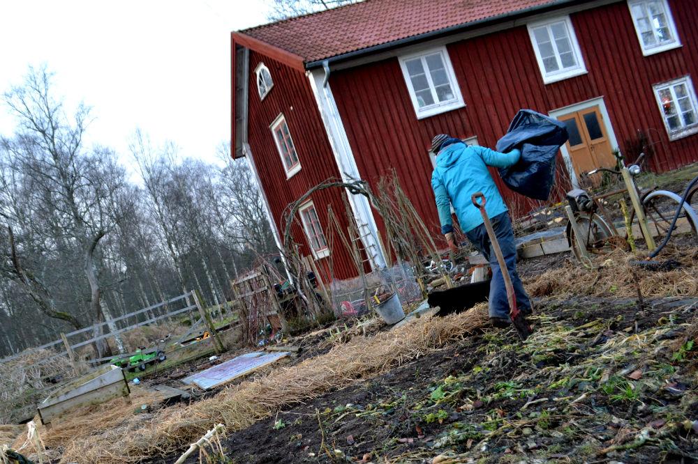Sara gör odlingsbädar