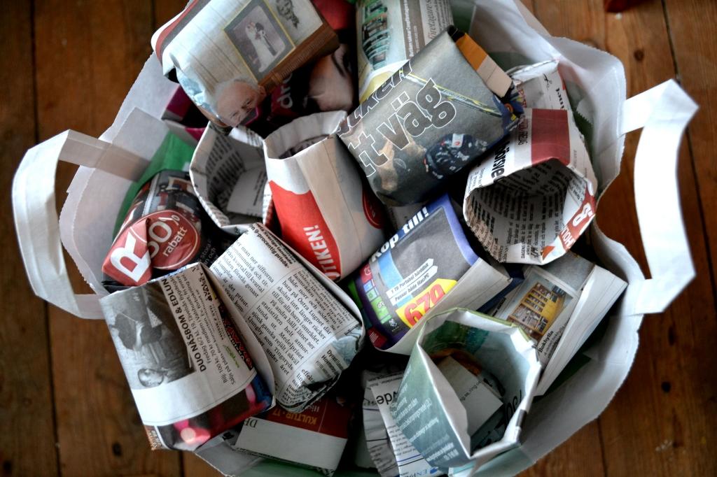 Krukor i påse, paper seedling pots in bags