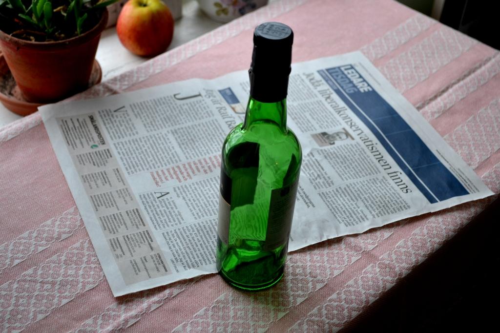 Krukor av tidningspapper