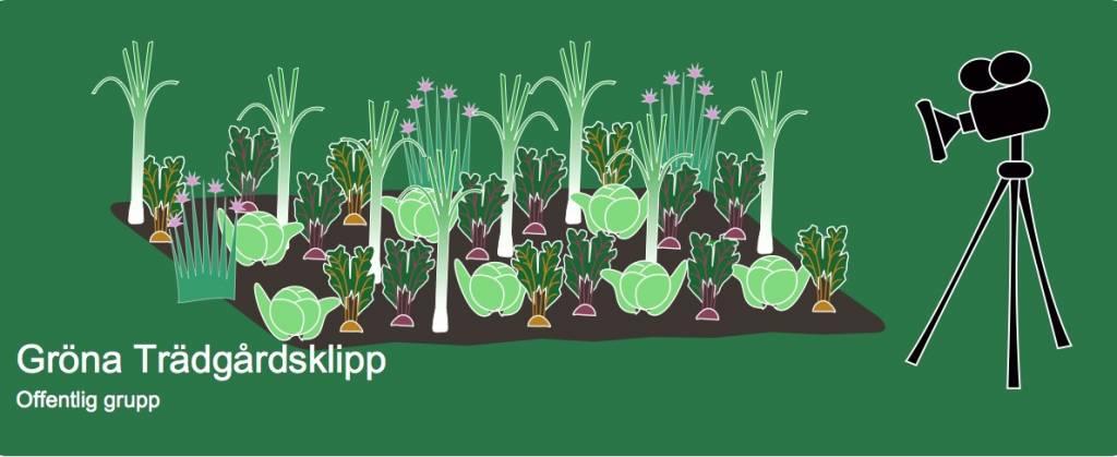 Gröna trädgårdsklipp logga