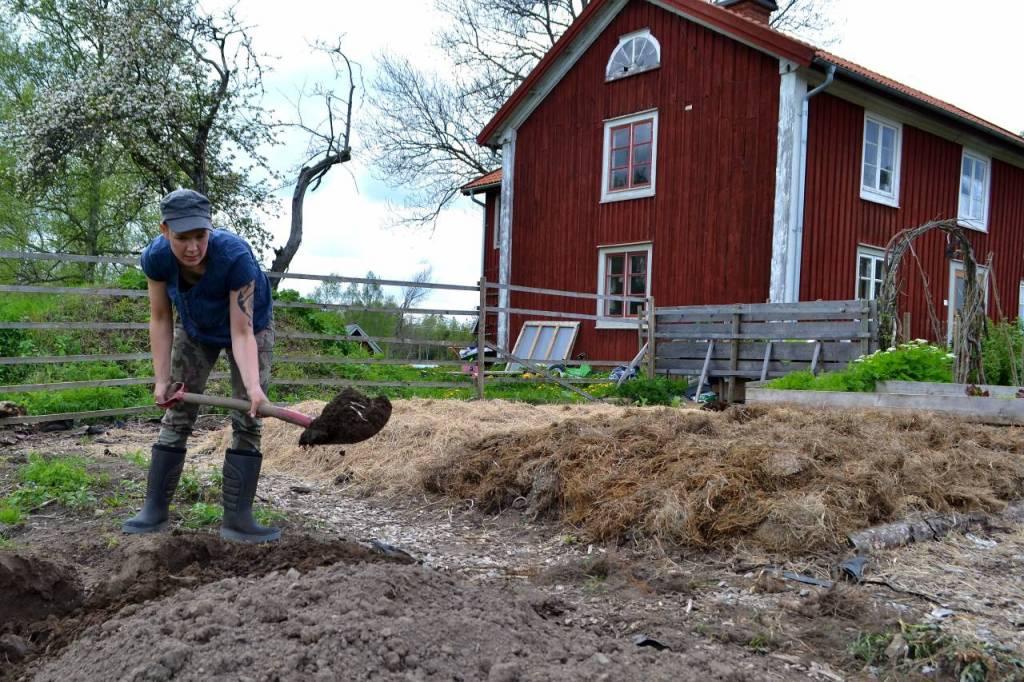 Sara gräver