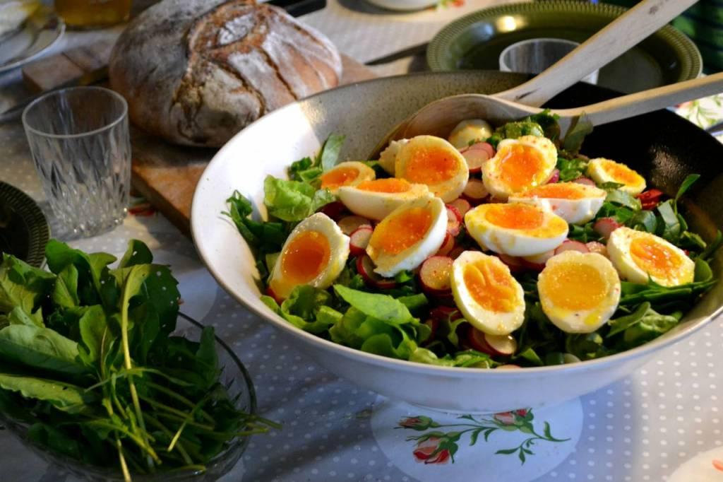 Ägg och sallad