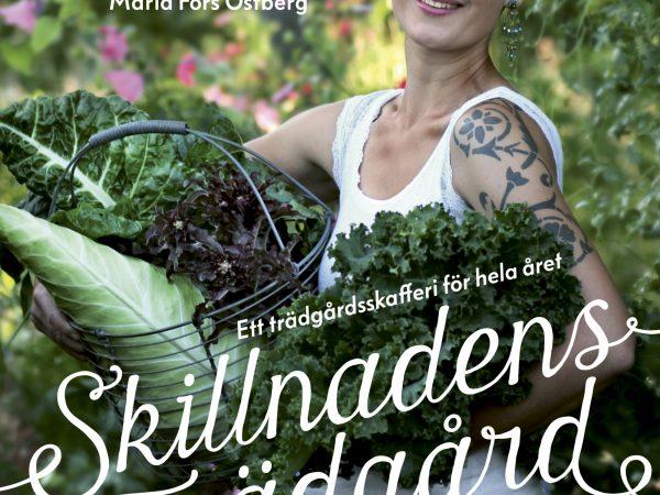 Bokomslaget visar mig när jag bär en massa grönsaker i trädgården