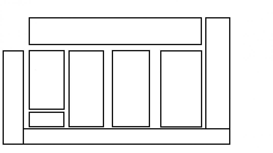 Skiss med rektanglar visar de olika odlingsbädarna.