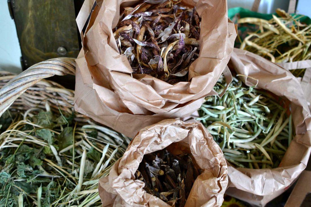 Påsar med torkade baljväxter