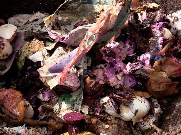Närbild på bokashi-kompost