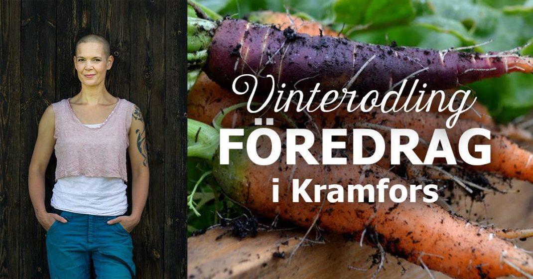 Bild med text Vinterodling, föredrag i Kramfors
