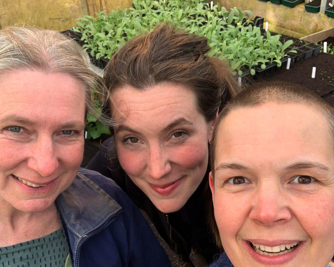 Selfie med Marie, Tora och Sara.