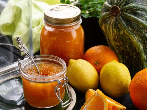 Marmeladburkar med squash och citrusfrukter