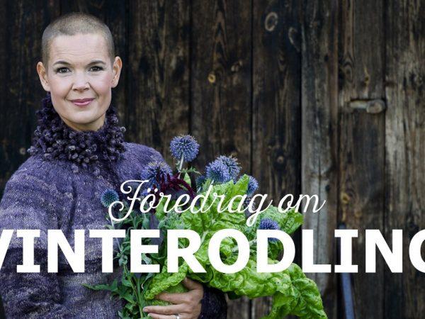Bild på Sara, med texten Vinterodling framför.