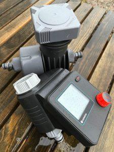 Produkter: bevattningspump och tryckutjämnare.
