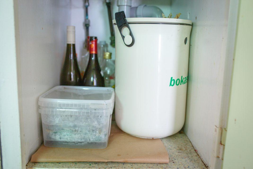 Mask-kompost under vasken