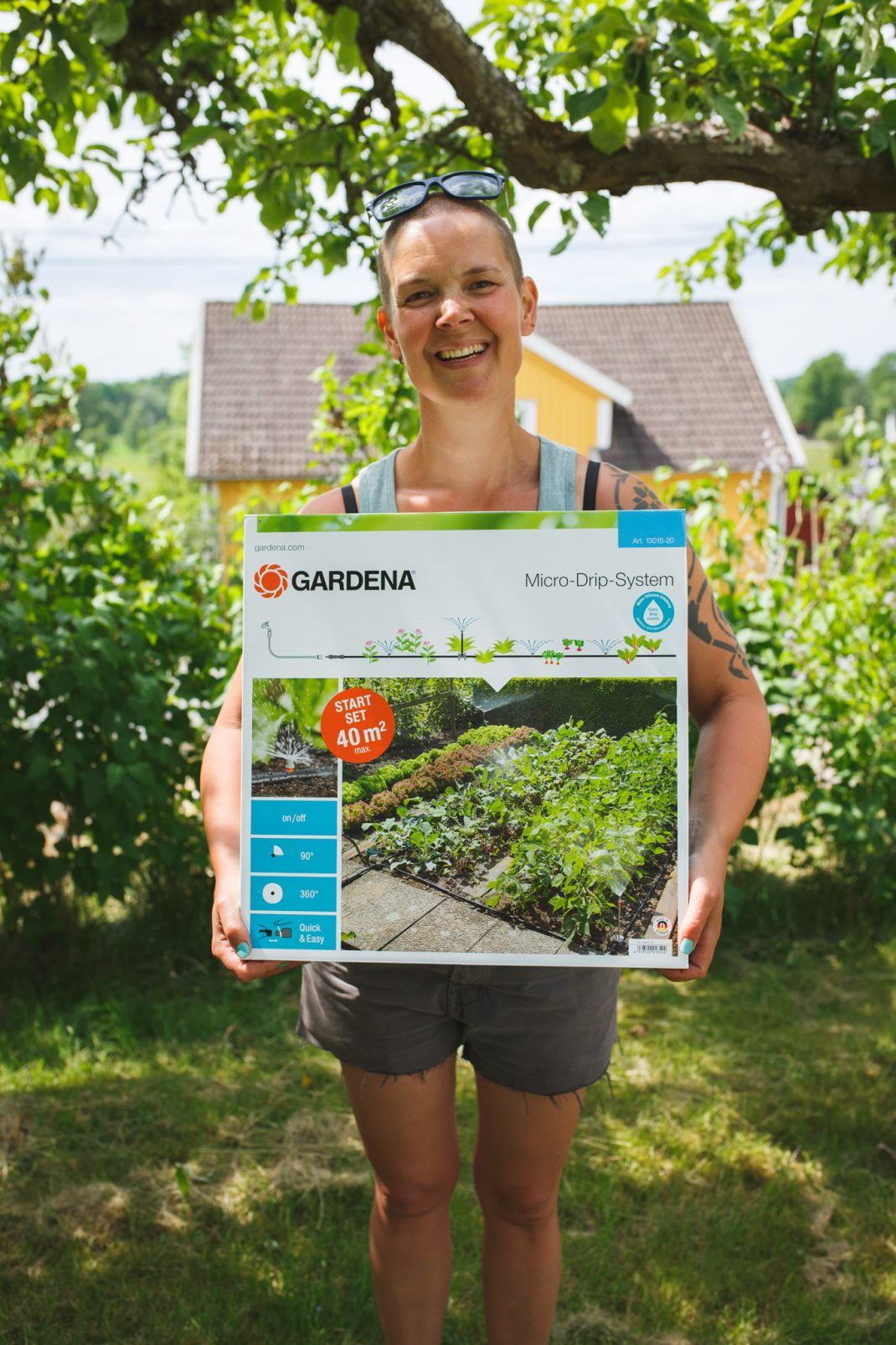 Sara med Gardenas startkit