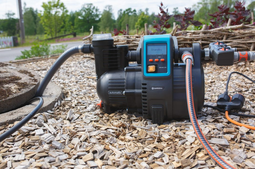 Gardenas pump kopplad till brunnen