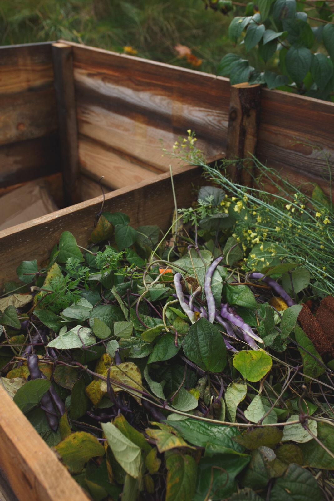 Material till att anlägga kompost.